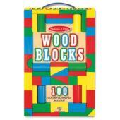 Színes fa építőkocka készlet - Melissa Doug 10481 (ME)