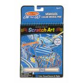 Scratch Art Kaparós  képkészitő - Kék, Járműves Melissa Doug 19141