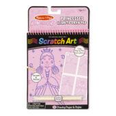 Scratch Art Lépésről lépésre rajztanító - Rózsaszín, hercegnős Melissa Doug 19144 (ME)