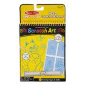 Scratch Art Lépésről lépésre rajztanító, sárga, cicás - Melissa Doug 19143 (ME)