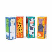 Állatos kocka kirakó, kocka puzzle játék Djeco 8208