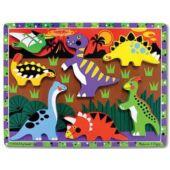 Fa dínós formakirakó, formafelismerő puzzle játék 1 éveseknek - Melissa Doug 3747 (ME)