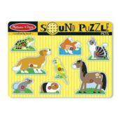 Hangot adó fogantyús fa puzzle - háziállatos - Melissa Doug 10730 (ME)