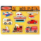 Járművek hangot adó formaberakó puzzle - Melissa 10725