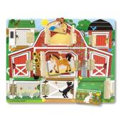 """Kukucska fa készségfejlesztő játék nyitható ajtókkal - a """"Farm"""", Melissa Doug 14592 (ME)"""