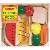 Szeletelhető kenyér, zöldségek és gyümölcsök játék fából - Melissa Doug 10487 (ME)
