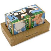Hangot adó fa kirakó kockajáték, állatos 2darabos mesekocka - Melissa & Doug 11196 (ME)