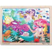 Hableány 48 darabos puzzle kirakó fából - Melissa Doug 12911 (ME)