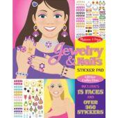 Matricás köröm díszítő és ékszerek - kreatív játék lányoknak Melissa Doug 14223 (ME)