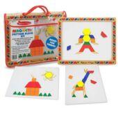 Színes, mágneses mozaik kirakó tangram 3 éves kortól - Melissa & Doug 13590 (ME)