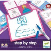 Tanuljunk rajzolni - Step by Step Josephine - Djeco DJ8320 (BO)