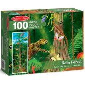Esőerdő - vadállatos puzzle kirakó - 100db darabos, Melissa 10444 (ME)