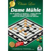 Malom társasjáték és dáma játék egyben (Schmidt) Dame Mühle (GA)