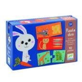 Puzzle duo állatok és eledeleik - DJ8166 Djeco (BO)