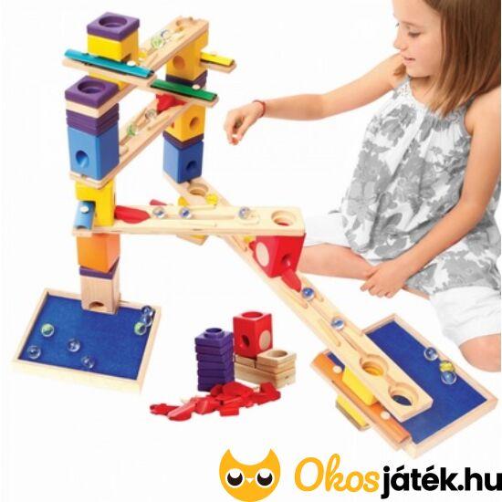Quadrilla fa golyópálya építő játék - zenebona, xilofonos elemekkel 6012