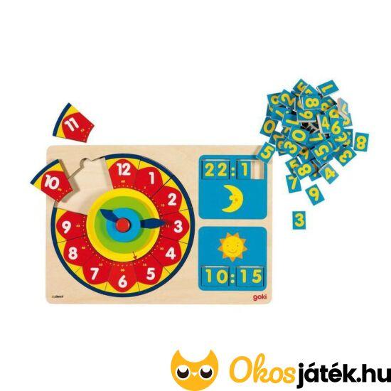 Óra tanító játék - digitális és analóg óra (Goki 58650) (HO)