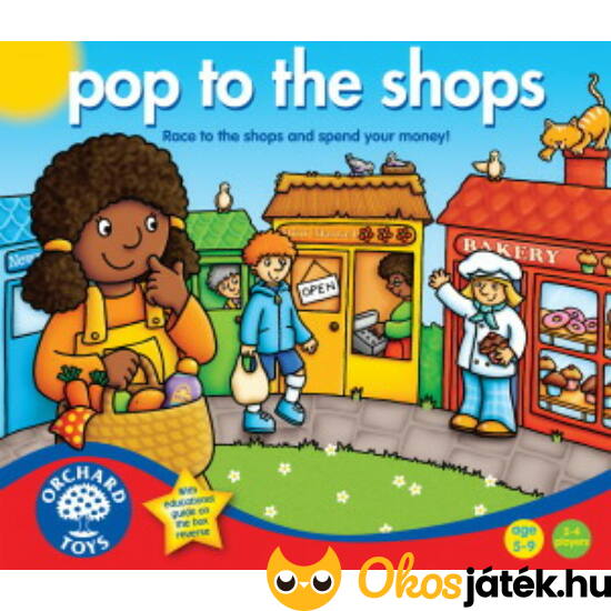 Bevásárlós társasjáték - Pop to the shops Orchard Toys (KA)
