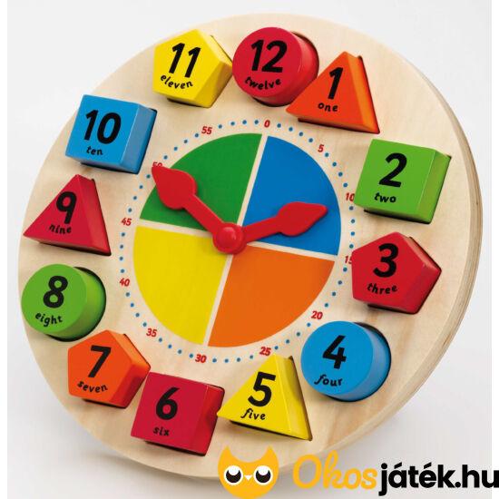 Fa óra tanító játék és formaberakó egyben JC T-0086 (JC)