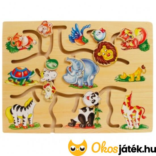 Útvesztő labirintus játék - vadállatos 0088 (FA)