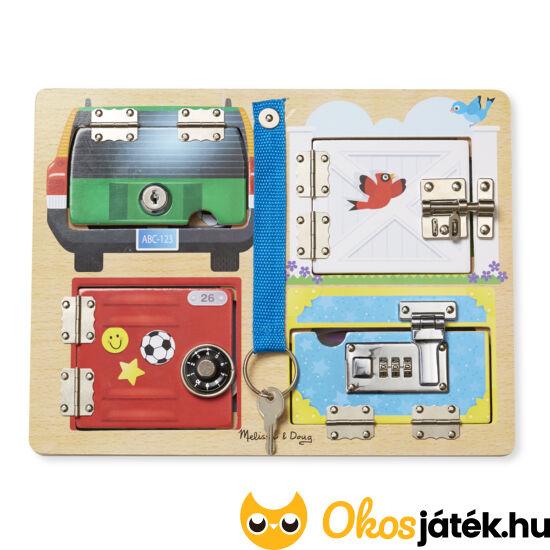 Kulcsos játék, záras, számzáras Melissa & Doug készségfejlesztő gyerekjáték 19540 (ME)