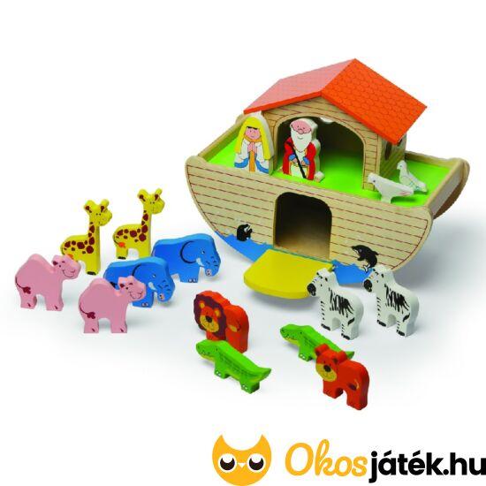 JC Noé bárkája játék fából, állatokkal - minőségi fajáték JC T-0093 (JC)