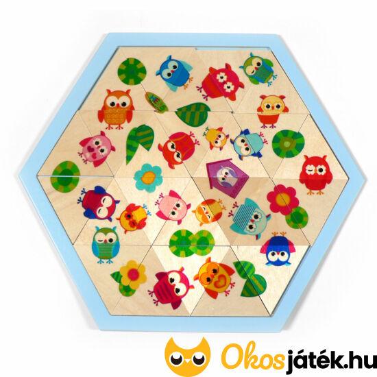 Baglyos fa háromszög kirakó puzzle játék gyerekeknek 14901