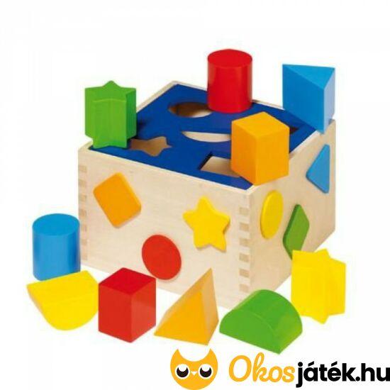 Formabedobó, készségfejlesztő kocka játék - Goki WM254 (HO)