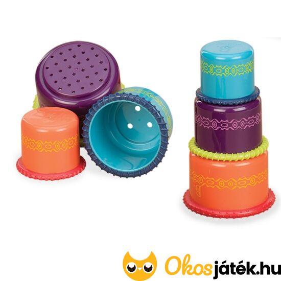 Toronyépítő, pohár a pohárban és fürdő játék BX1360Z - 3 játék egyben JC70.3123 (JC)