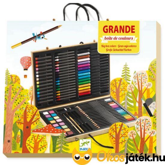 Óriási Djeco művészkészlet bőröndben 9750- rajzeszközök (BO)