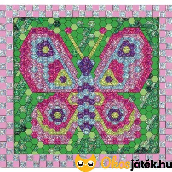 Mozaik játék - Csillám matricás, pillangós mozaik készítő kreatív játék fából - Melissa Doug 14293 (ME)