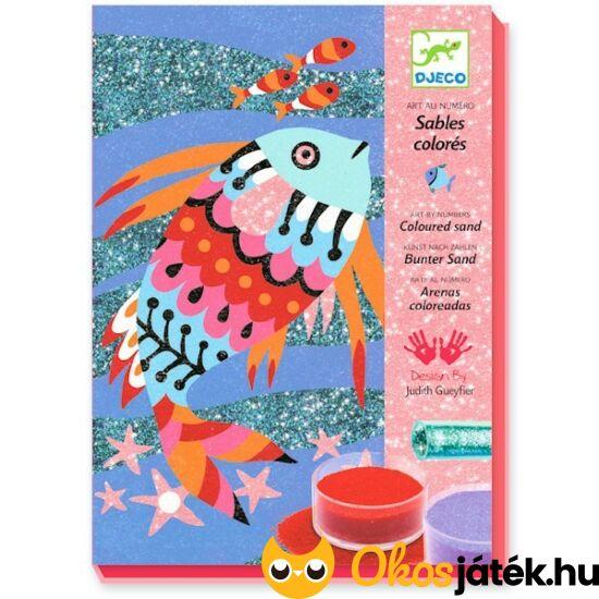 Djeco glitteres homokkép készítő kreatív játék - Halas - DJ8661 (BO)
