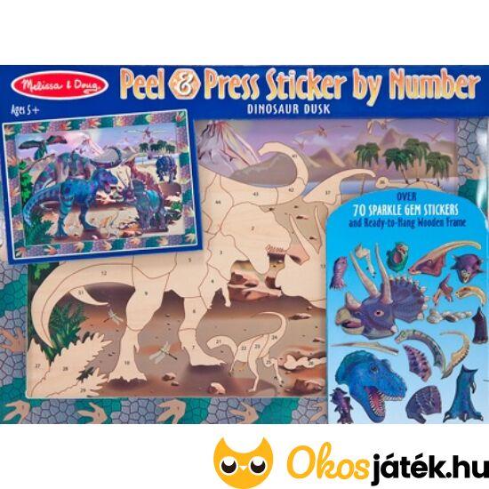 Mozaikkép készítő játék - Dinoszauruszos- Melissa Doug 14007 (ME)