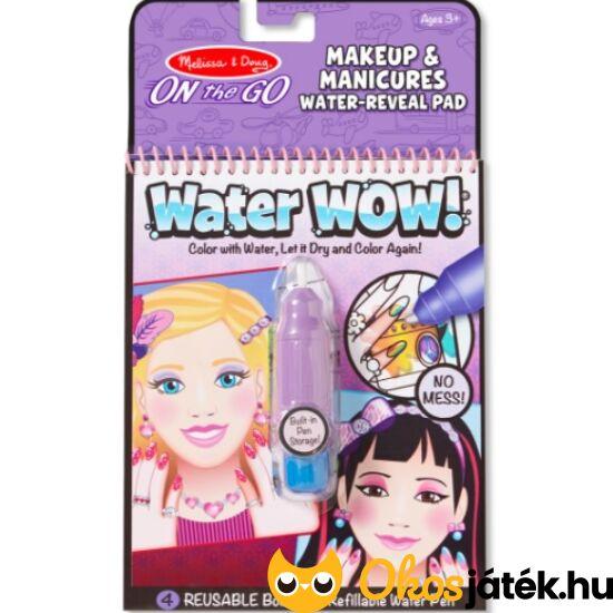 Smink és körömdíszítő kreatív játék utazáshoz Water wow - Melissa Doug 19416 (ME)