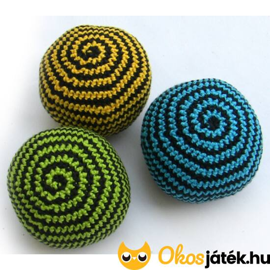 Zsonglőr 3 db kézzel készített, horgolt labda - Bravoballs