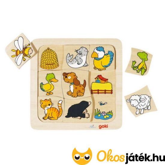 Hol laknak az állatok? Goki párosító puzzle - 56881 (HO)