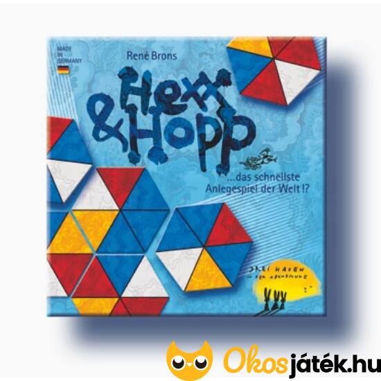 Drei Hasen - Hexx & Hopp gyorsasági színdominó szerű társasjáték (BT)