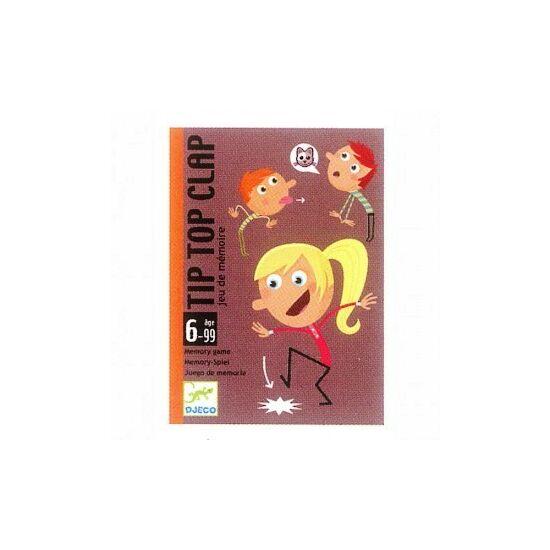 Tip Top Clap zsúrokra vicces társasjáték gyerekeknek - 5120 Djeco kártyajáték (BO)