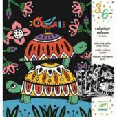 Bársonyos színező - Állatok - Djeco DJ 9624 (BO)