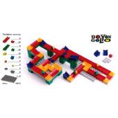 Bolyongolyó 100elem +2alaplap - golyópálya építő játék (BO)
