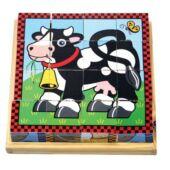 Fa kirakó kockajáték, állatos 4*4 mesekocka - Melissa & Doug 10775 (ME)