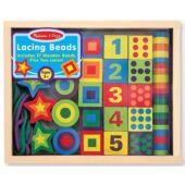 Fűzős játék - fa számos fűző nagy elemekkel - Melissa Doug 13775 (ME)