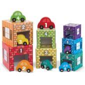 Autós toronyépítő játék - Melissa Doug 12435 (ME)
