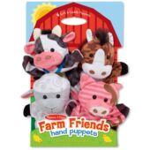 Állatos bábjáték, bábkészlet, Farm kézbábok - Melissa Doug 19080 (ME)