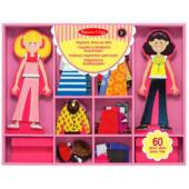 Öltöztetős játék - mágneses öltöztetős fajáték Abby és Emma Melissa Doug 14940 (ME)
