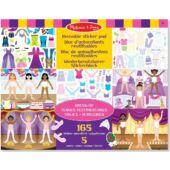 Öltöztetős matricás kreatív játék lányoknak Melissa Doug 14198 (ME)