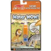 Aqua Doodle szerű vizes tollas színező - Melissa, Safari állatos Water wow 19441 (ME)