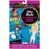 Képkarcoló matricák divattervezős, öltöztetős kreatív játék lányoknak Melissa Doug City Style 15868 (ME)