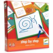 Rajzolás lépésről lépésre - állatok - Djeco DJ8319 (BO)