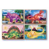 Fa puzzle, dinoszauruszos 4*12 darabos kirakó - Melissa Doug 13791 (ME)