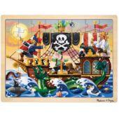 Kalózos, kalózhajós fa puzzle, 48 db-os - Melissa 13800 (ME)
